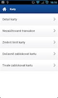 Screenshot of Fio banka Smartbanking
