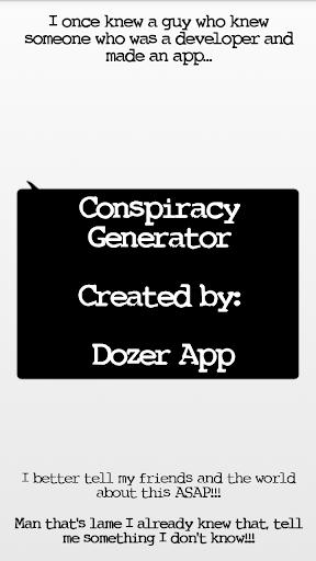 Conspiracy Generator Donate