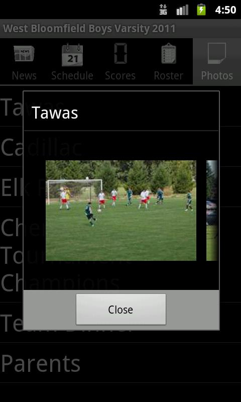 WBSoccer - Mobile- screenshot