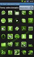 Screenshot of GO Launcher Theme Black Green