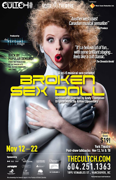 <p> <em>Broken Sex Doll </em>plays at The Cultch's York Theatre from Nov. 12 - 22, 2014 (www.thecultch.com). Emily Cooper photo.</p>