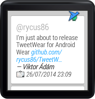 TweetWear- screenshot