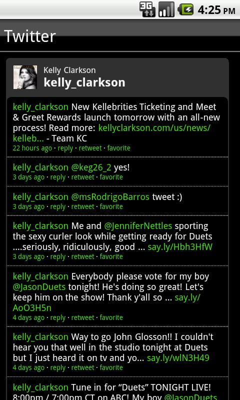 Kelly Clarkson Fan App - screenshot