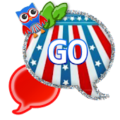GO SMS - Fourth July Owl