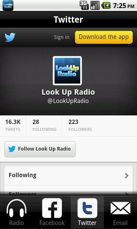 Look Up Radio- screenshot