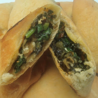 Hand Held Syrian Spinach Pies.