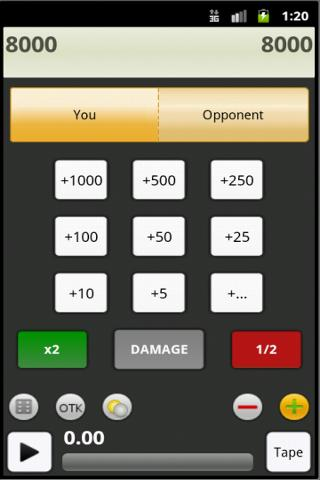 Yugioh Duelist Calculator Lite - screenshot