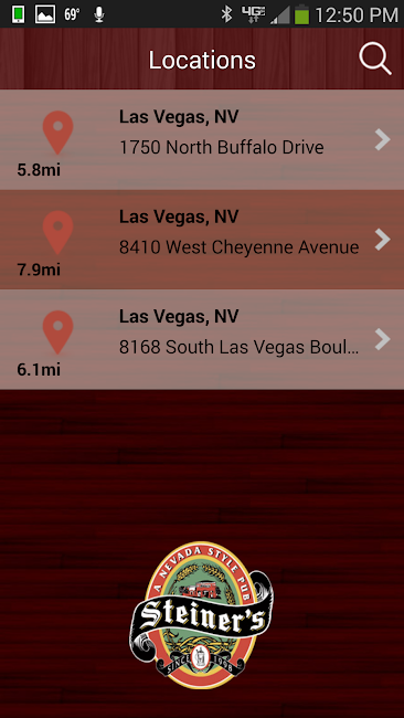 #2. Steiner's - A Nevada Style Pub (Android)