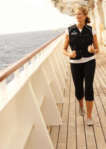 Spa-Fitness-Walkvest-on-the-Promenade-Deck-1 - Walk the Promenade Deck with the Spa Walkvest to track your steps and heartrate aboard the Crystal Symphony. It's fun!