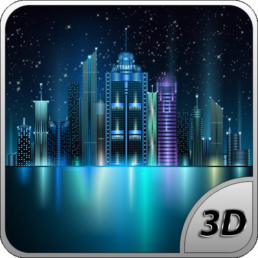 Space City Free 3D LWP LOGO-APP點子