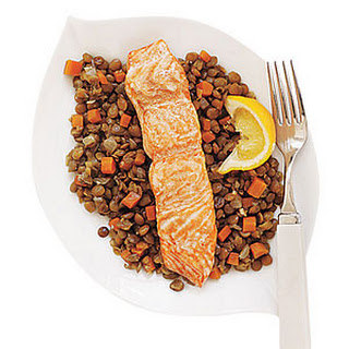 Lentils with Salmon Recipe