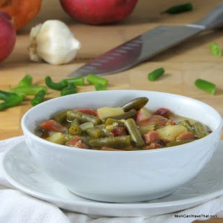 Hearty, Low Carb Ham And Green Bean Soup.