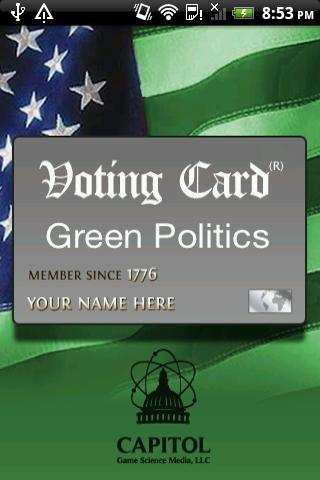 Voting Card Green