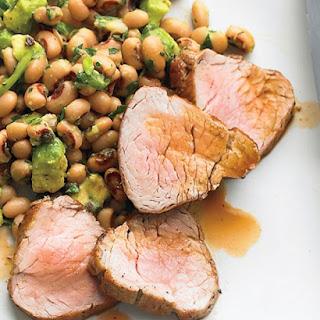 Broiled Pork Tenderloin with Black-Eyed-Pea Salad.