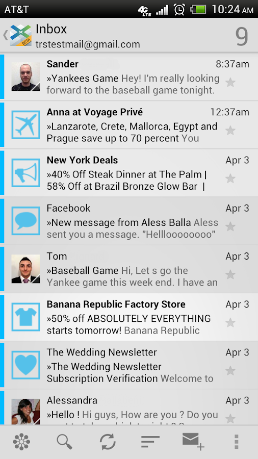 XonoMail BETA- Smart Email App - screenshot
