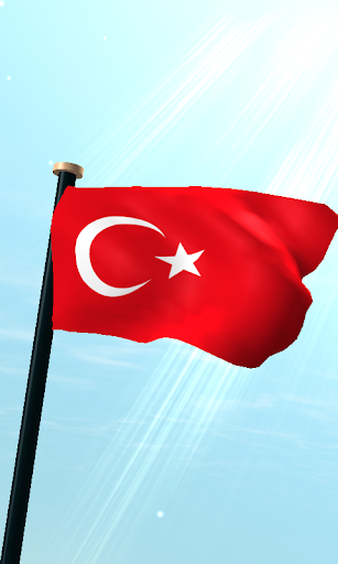土耳其旗3D動態桌布