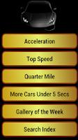 Screenshot of Fastest Cars
