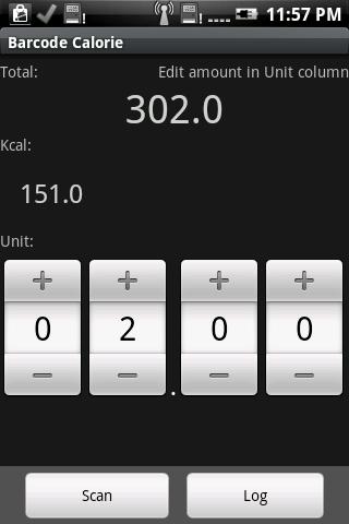 Barcode Calorie - screenshot