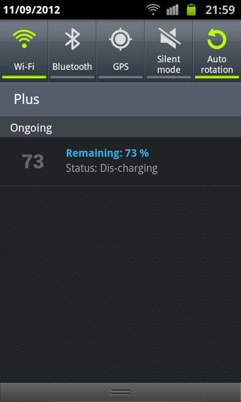 Simple Battery Widget - screenshot