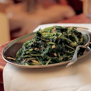 Greens with Garlic and Chili (Verdura Strascinata)