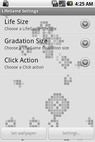 LifeGame Live Wallpaper Lite - screenshot