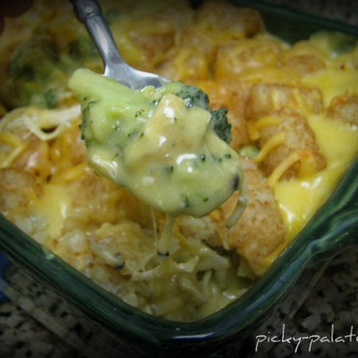 Broccoli Cheddar, Chicken and Tater Tot Casserole Recipe