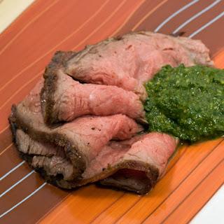 Flank Steak with Chimichurri.