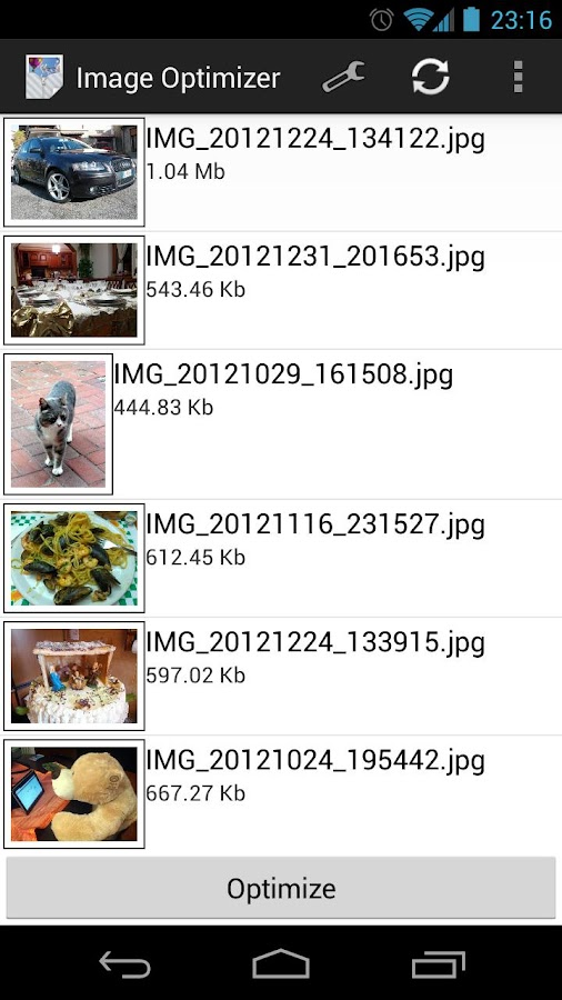 Image Optimizer - screenshot