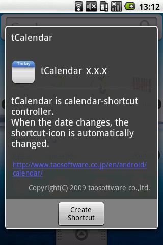 tCalendar - screenshot