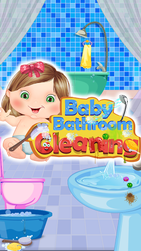 baby bathroom cleaning