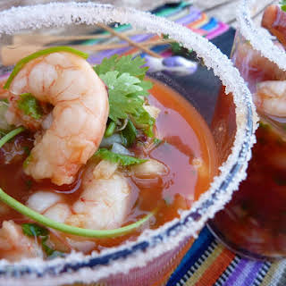 Prawn and Octopus Cocktail.
