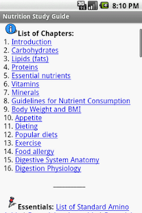 Nutrition Study Guide - screenshot thumbnail