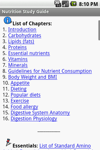 Nutrition Study Guide - screenshot