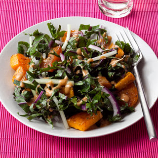 Roasted Squash and Kale Salad