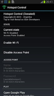 Hotspot Control Screenshot 2