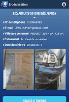 Screenshot of E-déclaration Matmut