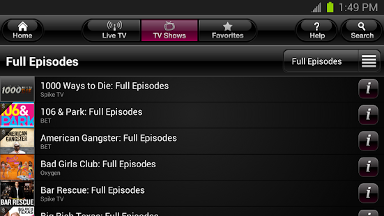 T-Mobile TV - screenshot thumbnail
