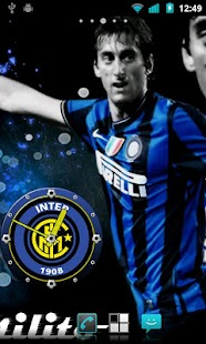 Inter Milan Clock Widget - screenshot thumbnail