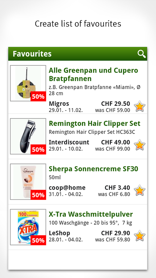 Smartshopper Switzerland- screenshot