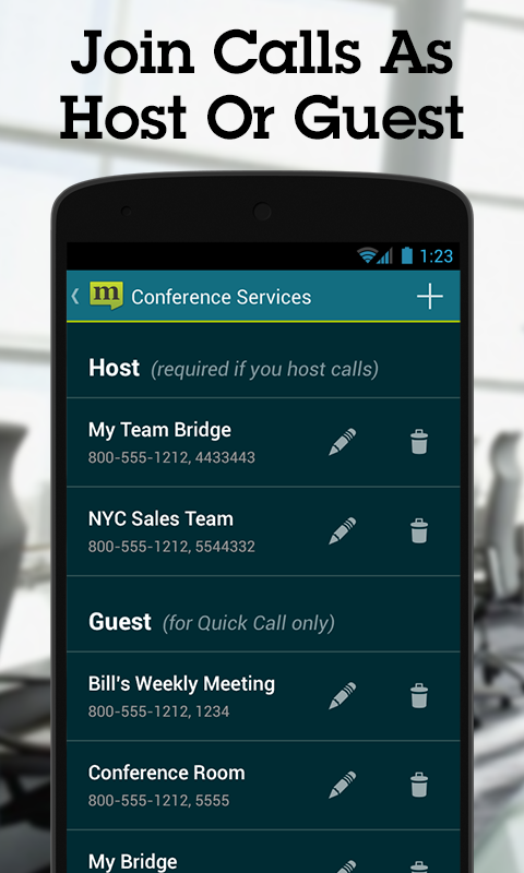 MobileDay Conference Call - screenshot
