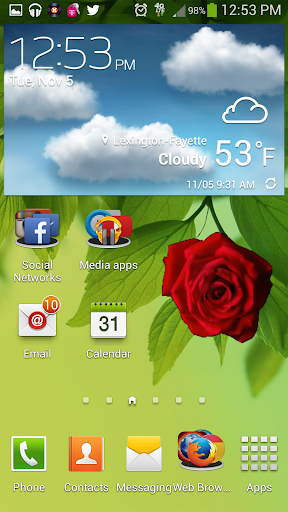 Blooming Rose battery widget