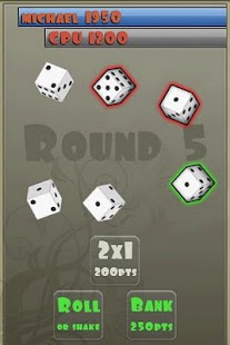 zilch free (dice game) - screenshot thumbnail