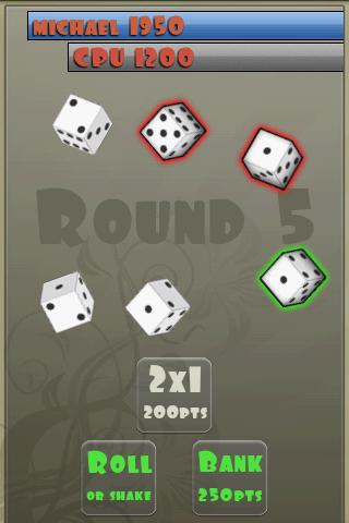 zilch free (dice game) - screenshot