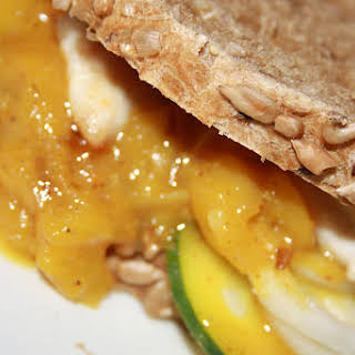 Chicken Sandwich with Mango Chutney.
