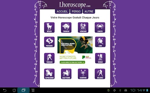 FREE daily Horoscope for Tab - screenshot thumbnail