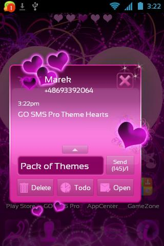 Theme Hearts for GO SMS Pro- screenshot