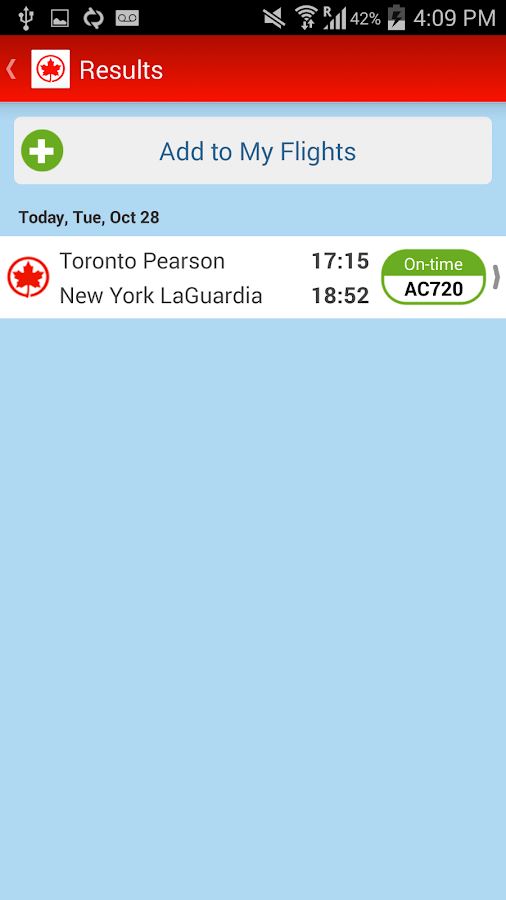 Air Canada - screenshot