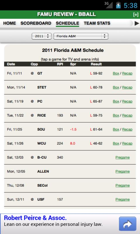 FAMU Football & Basketball - screenshot