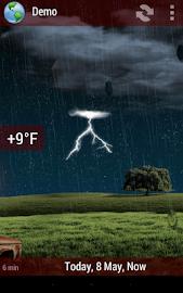 Animated Weather Widget&Clock Screenshot 11
