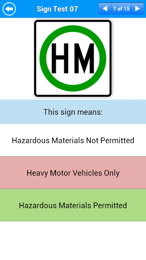 Motorcycle Permit Test - screenshot